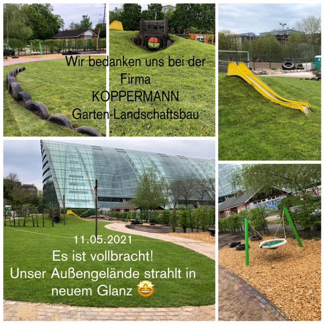 Spielplatz mit Rasen