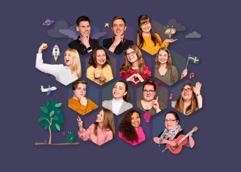 Collage Krippe Team